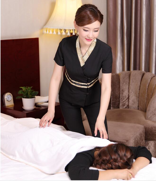 Online kopen wholesale massage kleren uit china massage for Spa uniform indonesia