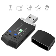 dodocool N300 Wireless-N Wireless Network USB 2.0 Adapter Wi-Fi Dongle 2.4 GHz 300 Mbps Support Windows XP/Vista/7/8/8.1/10/Mac(China)