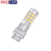 2pcs 3157 Switchback Bulbs Turn Signal Light - 3056 3156 3057 LED Car bulbs - 42SMD Dual Color Amber / White (pack of 2)