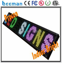 2018 2017 P7.62 Blue led signboard ,Programmable led moving message sign board,electronic information board