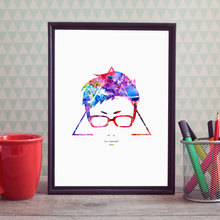 Harry Potter Art Print Painting Nursery Deathly Hallows Watercolor Movie Wall Pictures Wall Art Poster Baby Gold Decor E25(China)
