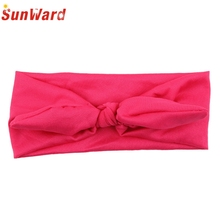 Hair clips for children SunWard 2017 Hotselling Kids cute Rabbit Bow Ear Hairband Headband Turban Knot Head Wraps