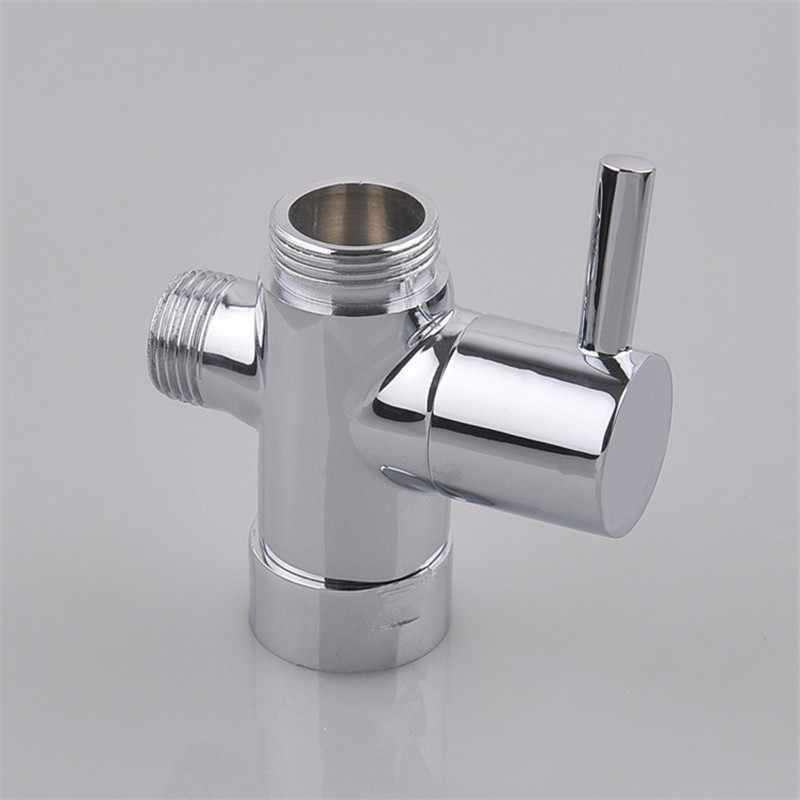 2 Way Shower Diverter Valve.Chrome Brass Bathroom Toilet Bidet 3 4 1 2 T Adapter Shower Diverter Valve 3 Way Shower Faucet Tee Connector Shattaf Valve