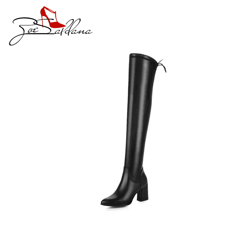 Zoe Saldana 2017 Pointed Toe PU Leather Sewing Platform Tasswl Zipper Over-the-Knee Winter Boots Women Shoes <br>