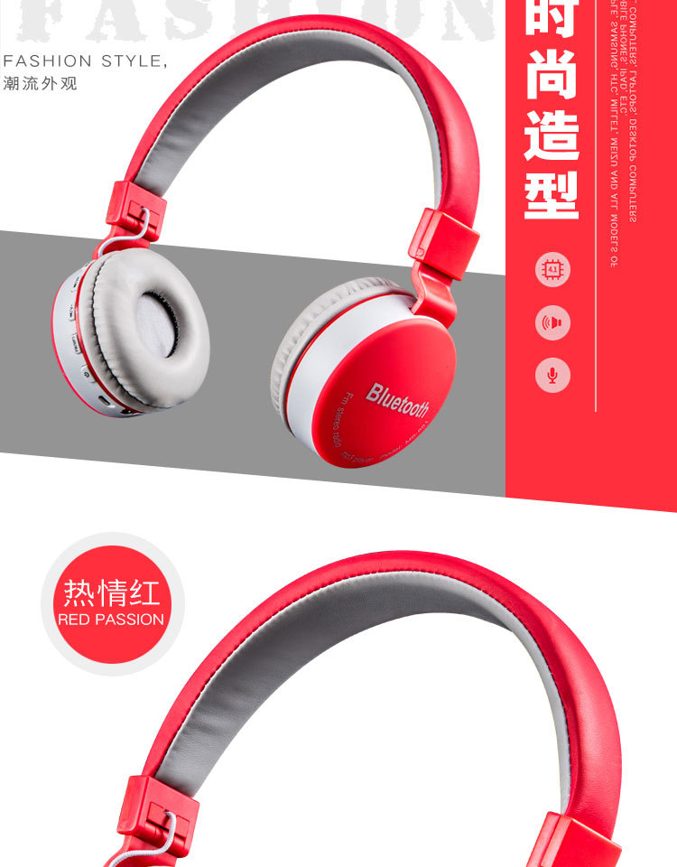 SMILYOU Colorfuls earphones Wireless Headset Stereo headphones v4.1 Bluetooth Headset with Mic Support TF Card iPhone Calls