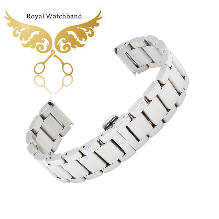 18mm 20mm 22mm 24mm Silver Stainless Steel Watch Band Double Push Buckle/Clasps Strap Bracelet For Watches Free Shipping<br><br>Aliexpress