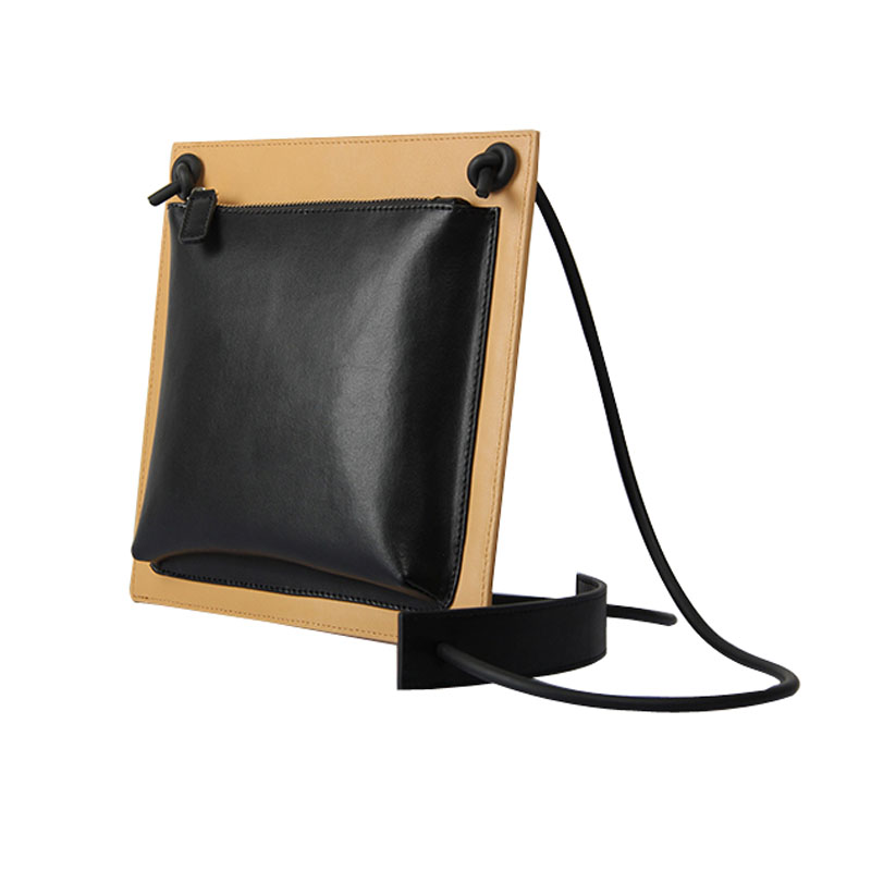 Fashion Small Black Leather Bags For Women Messenger Bag Designer Square Ladies Clutch 2colors Bolsa De Couro Genuino Feminino<br>