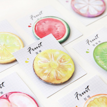24 pcs/Lot Super delicious fruit sticky note 30 sheets memo pad Apple orange post it Office accessories School supplies F582
