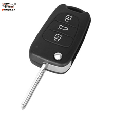 DANDKEY Uncut Blade 3 Buttons Flip Remote Key Shell For Hyundai Car Keys Blank Case Cover(China)