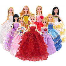 5 Pcs/lot Princess Doll Clothes Dress Fashion Dreamlike Wedding Dress Long Skirt Clothing Gown Dolls Accessories Toys For Girls(China)