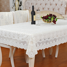 Creamy white fabric square and rectangle dining table cloth round tablecloth different sizes