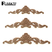 RUNBAZEF Natural Oak Wood Carved Applique Furniture Decorative Figurine Miniatures Model Home Decoration Accessories(China)