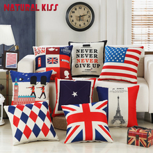 45X45CM Home Decor Cotton Linen /plush London soldier Decorative Throw Pillow Cartoon Cushion the London Designs sofa Cushion(China)