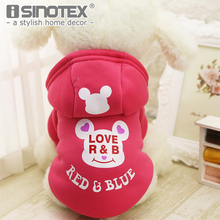Hot New Small Dog Pet Clothes Cute Cartoon Bear Hoodie Warm Sweater Puppy Coat Apparel Clothing for Dogs Cats(China)