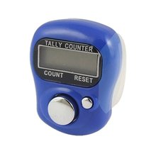 Useful New Plastic Adjustable Soft Band Royal Blue Housing Resettable Finger Counter(China)
