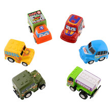 Lovely 6pcs/Set Truck Vehicle Mini Pull Back Car Model Racer Child Toy NEW remote control car toys road control for baby(China)