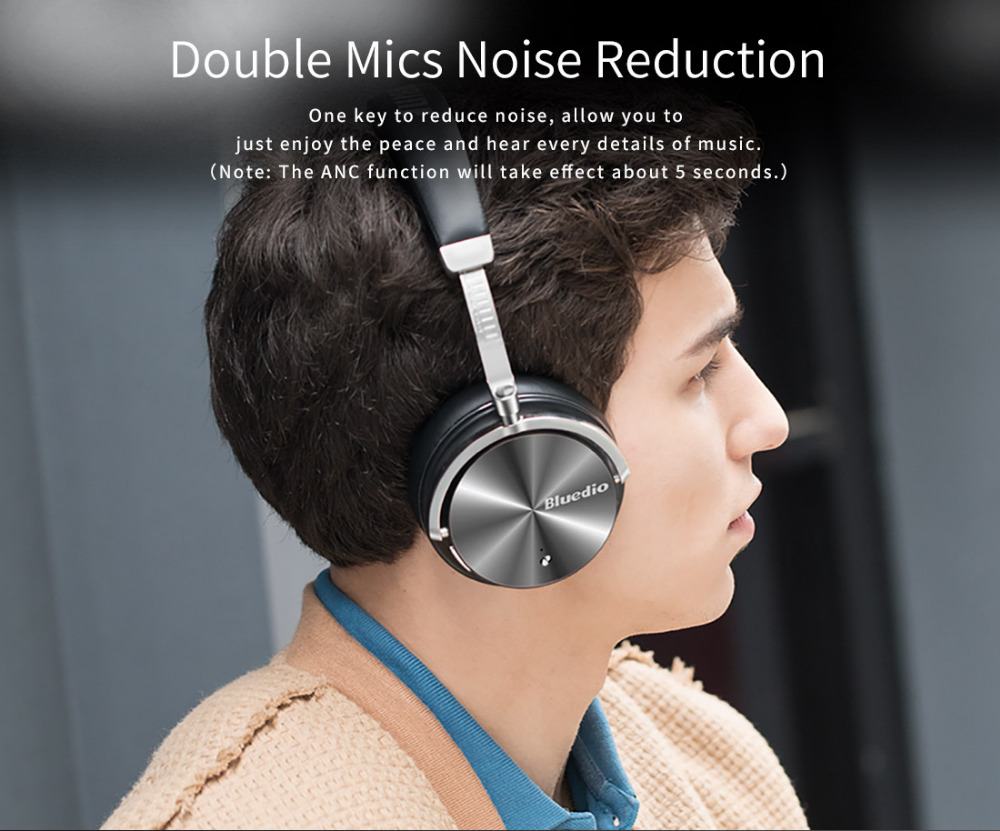Bluedio T4S Active Noise Cancelling Wireless Bluetooth Headphones wireless Headset with Mic 7