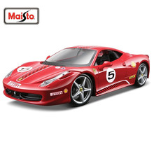 Maisto Bburago 1:24 458 Challenge Diecast Model Car Toy New In Box Free Shipping