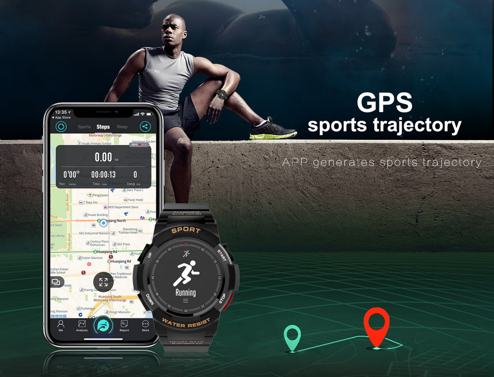 DTNO.1 Smart Watches F6 50m Waterproof Smartwatches Sports Nordic NRF51822 Smart Watch Sleep Monitor Remote Camera IOS Android (3)