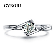 0.2Carat Natural Diamond 18K Solid Gold Ring GVBORI Luxury Heart Shape Fine Diamond Jewelry Engagement Friend/Lover Gift