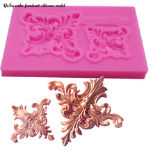 YeFu DIY Flowers lace pattern & border Silicone Fondant Mold Wedding Cake Decorating Tools chocolate sugar art displays T0914