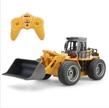 Huina 1520 520 RC Truck 6CH Alloy Bulldozer RC Simulation Pushdozer Engineering Forlift Construction Model With LightToys 520(China)