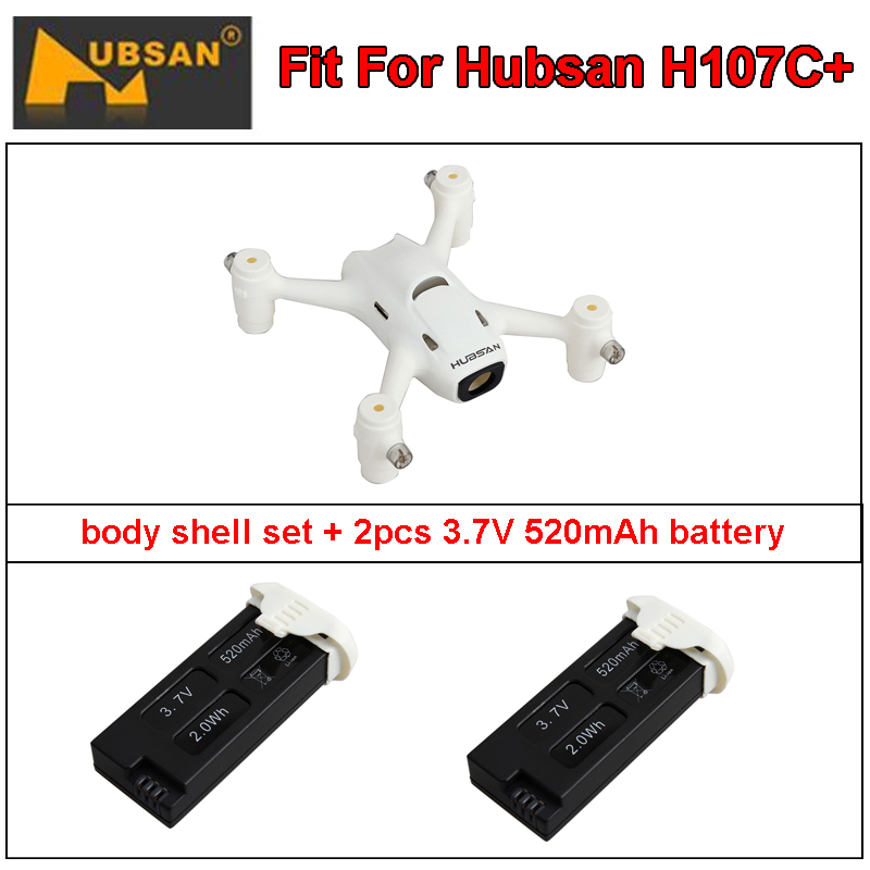Free Shipping! Hubsan H107C+ PLUS Quadcopter Spare Parts Body Shell Set+2x 3.7V 520mAh Battery<br><br>Aliexpress