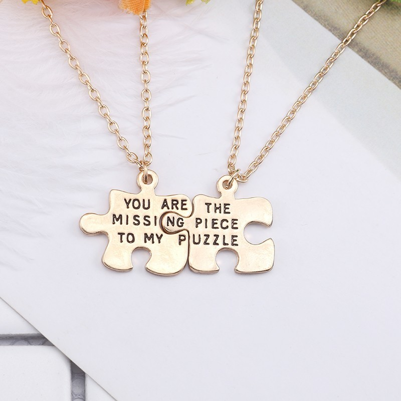 2pcs-Trendy-Best-Friend-Forever-Necklace-You-Are-The-Missing-Piece-To-My-Puzzle-Irregular-Geometry