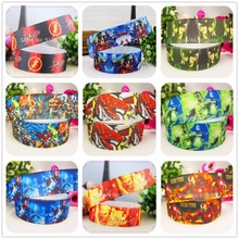 YJHSMY 22mm Super hero printed grosgrain ribbon,Clothing accessories accessories, wedding gift wrap ribbon,MD51458
