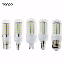LED Corn Bulb 5730 SMD E27 E12 G9 E14 GU10 B22 Lamp Light 5W 9W 13W Chandelier For Indoor Lighting Spot Light(China)