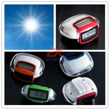 200 Pieces/lot Step Pedometer Distance Counter New Solar Energy Power Supply Walking Distance Support Pedometer