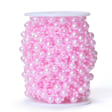5 Meters 8+3mm Meters/lot Fishing Line Artificial Pearls Beads Chain Garland Flowers Wedding Party Decoration Products Supply