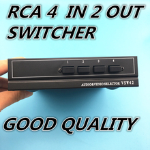 4 Ports 2output Composite 3 RCA Video Audio AV Switch Switcher Box Selector 4 In 1 Out 4x1 4in 2out 4x2 for HDTV LCD DVD(China)