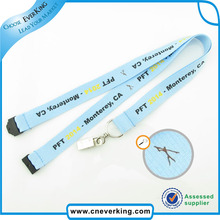 Fee shipping Wholesale cheap custom printed polyester neck strap/neck lanyards