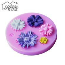 DIY Silicone Cake Moulds 3D Sunflower Fondant Chocolate Cake Decorating Tools Sugarcraft Baking Mold For Polymer Clay Crafts DIY