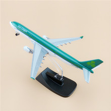 Brand New Alloy Metal Airplane Model Air Aer Lingus Airbus A330 Airlines Airways Plane Model W Stand Wheels Aircraft Gifts Toys(China)