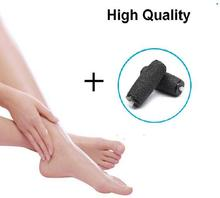 Hot Foot Care Tool Electric Pedicure Machine sHoLlEiNg With Foot File Set Skin Care Dead Skin Remover +2 Roller Heads(China)