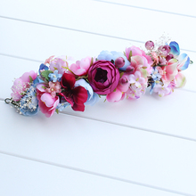 Buy bride beach wreath Women Girl Bohemia Handmade lady Flowers Crown Wedding Bridal Headdress Headband Hair Band Accessories for $4.22 in AliExpress store