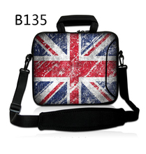"UK Flag 10"" Laptop Soft Shoulder Sleeve Case Bag For 10.1"" Asus EEE Pad/ Acer Aspire One/9.7"" 10"" 10.1"" ipad GALAXY Tab S"