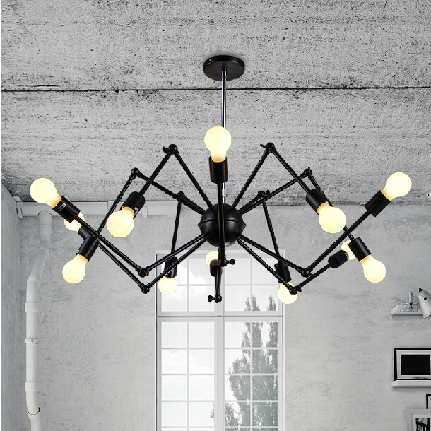 American industrial Loft  Vintage pendant light E27 Edison bulb iron black painted  for living/ dining room home decoration lamp<br><br>Aliexpress