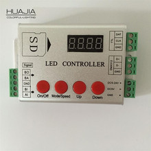 1PCS Led Pixel Controller SD Card 2048 pixels Controller Support Dmx WS2811/WS2812b/WS2801/TM1804/WS2821 IC Controller