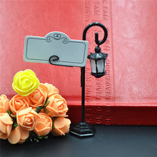 1pcs Streetlight Street Road Lamp Name Number Menu Photo Clip Table Place Card Holder Clip Wedding Party Reception Favors(China)