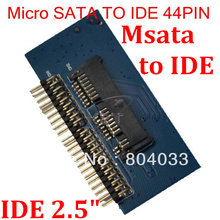 "T MSata to IDE Adapter Converter Micro Sata Female to 2.5"" IDE Male 40 pin port 1.5Gbs Support  ATA 133 100 HDD CD DVD Serial"