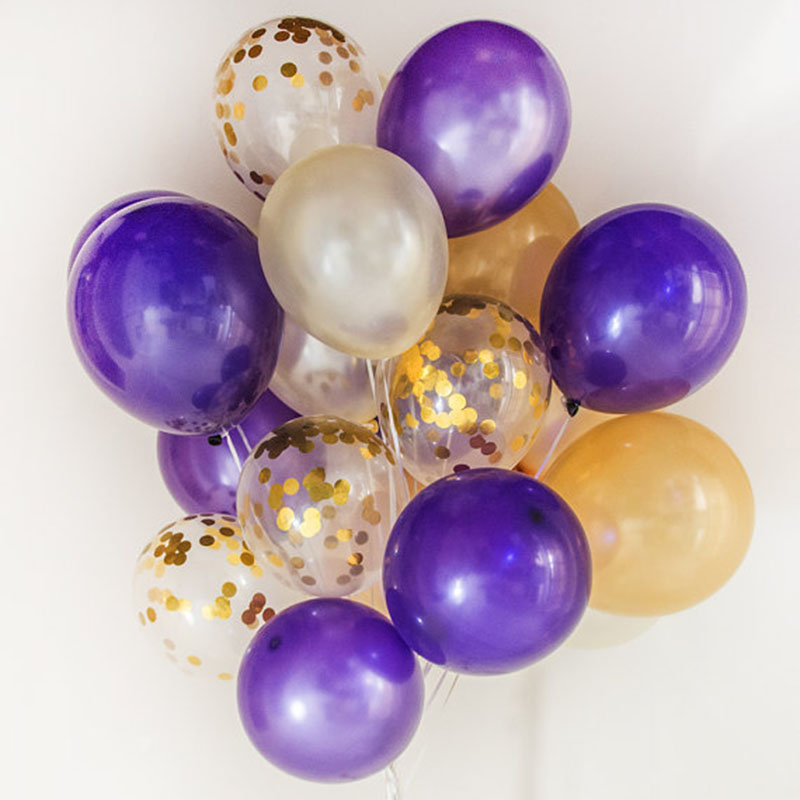 5pcs 12inch Balloon Party Wedding Decoration Multicolor Confetti Balloon Thickening Pear Ballons Decoration Birthday 20