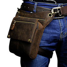 Buy Men's Vintage Cowhide Genuine Leather Drop Leg Fanny Waist Pack Belt Hip Bum Travel Motorcycle Riding Messenger Shoulder Bag for $23.58 in AliExpress store