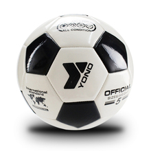 1 Piece White Black TPU Soccer Ball Official Size 5 Football Goal League Ball Outdoor Sport Training Balls Futbol Voetbal Bola(China)