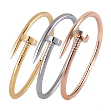 Screw Nail Men Stainless Steel Bracelets&Bangles Rose Gold Bracelets For Women Bracelet pulsera hombre