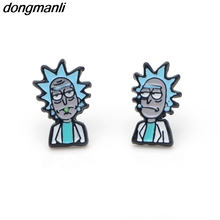 Buy P1236 Dongmanli TV Rick Morty figure Stud Earrings Women Metal without nickel action figure Accessories Dropshipping for $2.99 in AliExpress store