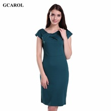 Women Trendy Bodycon Dress Fold Collar Pencil Dress OL Office Wear Sexy Brief Design Stretch Plus Size 4XL Dress For Ladies