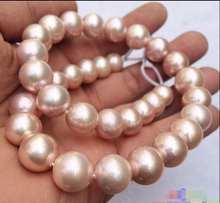 noble women gift Jewelry Silver Clasp Natural 11-11.5mm round lavender Edison pearl necklace